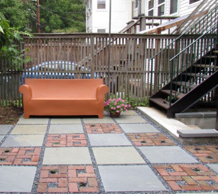 Brick and Flagstone Pervious Patio