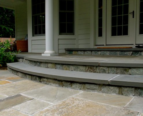 Curved Stone Stairs