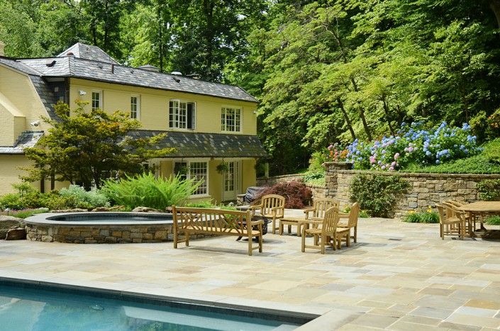 Pool Hardscape and Plantings