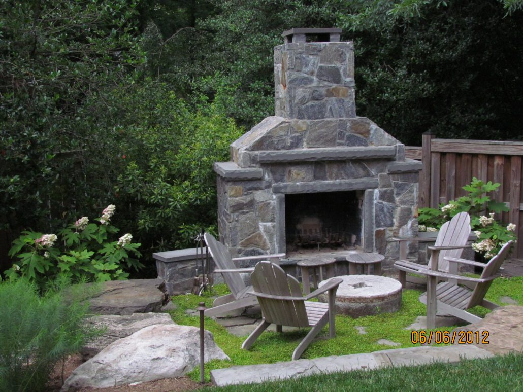 outdoor fireplaces firepits and grills landscaping services